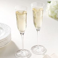 Clearly Waterford Champagne Flutes