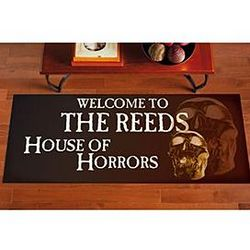 Personalized House of Horrors Runner Doormat