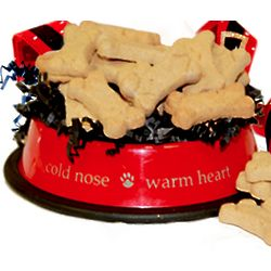 Santa Paws Dog Bowl and Biscuits