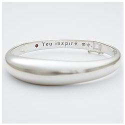 Garnet Inspiration Quote Bangle