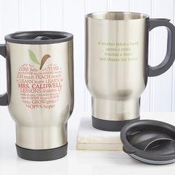 Personalized Teacher's Apple Travel Mug