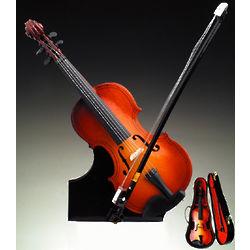 Extravagant Brown Violin Music Box Figurine