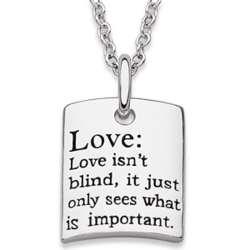 Sterling Silver Love Sentiment Pendant