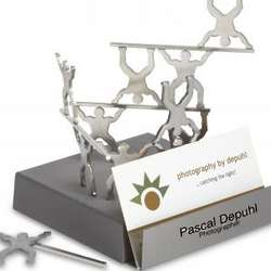 Magnetic Sculpture Card Holder