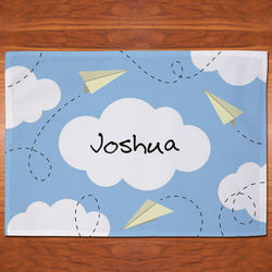 Personalized Paper Airplanes Placemat