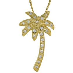 Tiffany Inspired Cubic Zirconia Palm Tree Pendant
