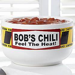 Feel the Heat Personalized Chili Bowl