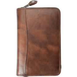 Distressed Leather Portable Size Planner Cover with Pockets