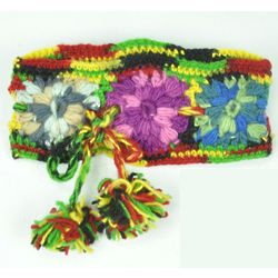 Wool Crochet Flower Headband