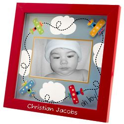 Personalized Airplane Flight Red Picture Frame