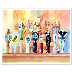 9 On Tap Personalized Bar Themed Art Print
