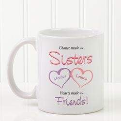 My Sister, My Friend Personalized Coffee Mug