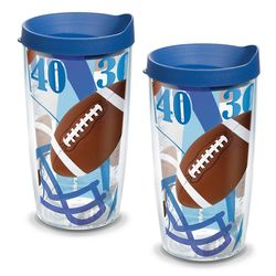 2 Football 16 Oz. Tervis Tumblers with Lids