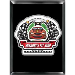 Personalized Racing Pit-Stop Sign