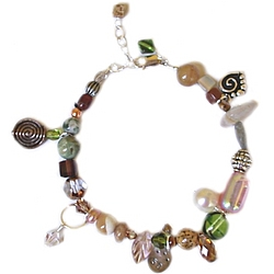 50 and Fabulous Natural Tones Birthday Bracelet