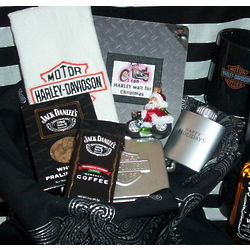 Motorcycle Themed Christmas Gift Basket