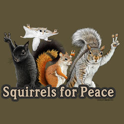 Squirrels for Peace T-Shirt