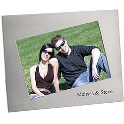 Angled 4 x 6 Brushed Finish Photo Frame