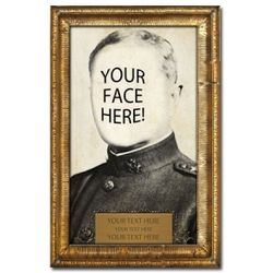 Personalized Historical Pershing Portrait
