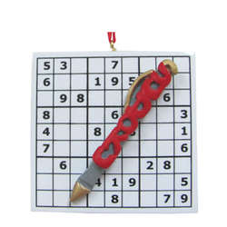 Sudoku Christmas Ornament