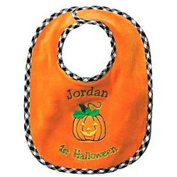Personalized Baby's First Halloween Bib