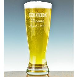 Personalized Wedding Party Grand Pilsner for the Guys