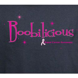 Boobilicious Breast Cancer Awareness T-Shirt