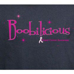 Boobilicious Breast Cancer Awareness T-Shirt