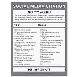 Social Media Citation Nifty Note