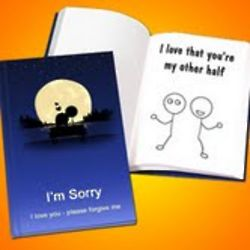 Personalized 'Apology' LoveBook