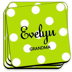 Green Apples Personalized Coasters