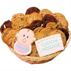 Welcome Baby Girl Cookie Gift Basket