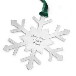 Classic Snowflake Flat Christmas Ornament