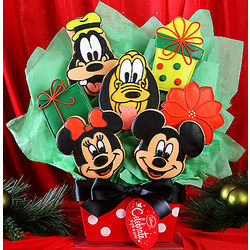 Disney Characters 7 Cookie Holiday Bouquet