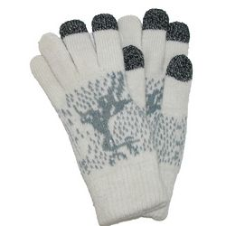 Reindeer Knit Touch Screen Gloves