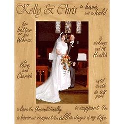 Wooden Personalized Wedding Vows Frame