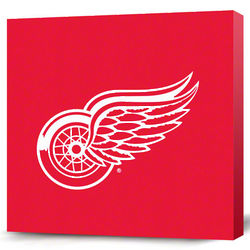 Detroit Red Wings Dark Logo Canvas