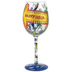 Happy Hour Wine Glass