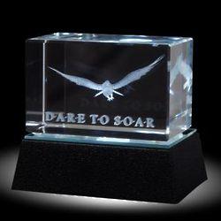 Dare To Soar Eagle 3D Crystal Award