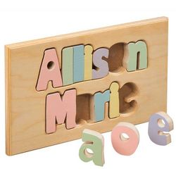 Double Name Board Puzzle