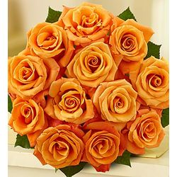 Passion for Orange Roses Bouquet with Cookies