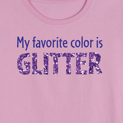 My Favorite Color is Glitter Toddler Shirt