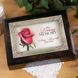 In Loving Memory Personalized Music Box