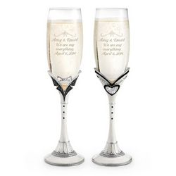 Mr. and Mrs. Champagne Toasting Flutes