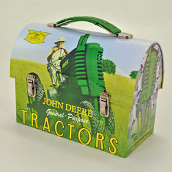 John Deere Retro Tractor Caryall Lunch Box