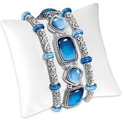 Indigo Bliss Three Piece Stretch Bracelet Set