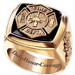 Fireman's Duty, Honor and Courage Ring