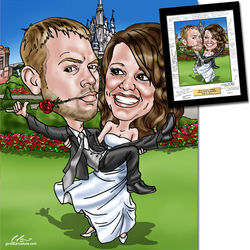 Fully Custom Wedding Caricature