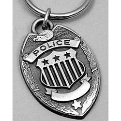 Engravable Police Badge Keyring