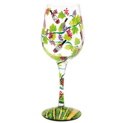 Wine Tasting Hand Painted Wine Glass